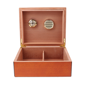 Spanish Cedar Cigar Humidor W/ Humidifier Hygrometer Cigar Box Case -Brown