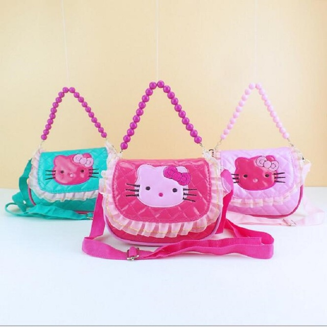 4effd30240 mini cute bag children hello kitty Bowknot handbag kids tote girls Shoulder  Bag mini bag