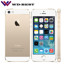 Original Unlocked Apple iphone 5S 16GB / 32GB/64GB ROM IOS iphone 5s White Black Gold GPS GPRS A7 IPS LTE Cell phone iPhone5s