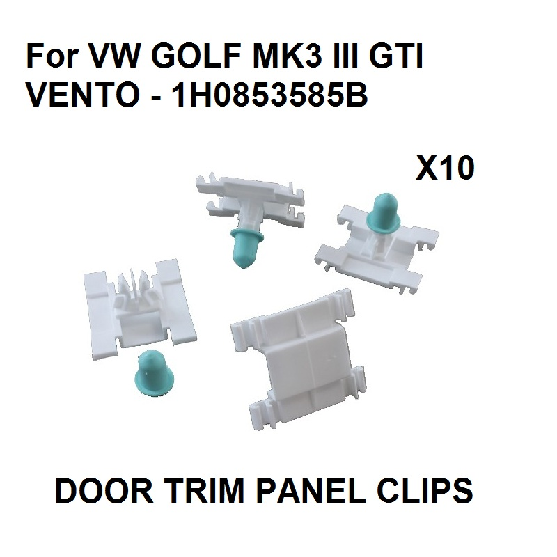 For <font><b>VW</b></font> <font><b>GOLF</b></font> <font><b>MK3</b></font> III GTI VENTO Door Trim Plastic Strip Clips Exterior Moulding <font><b>VR6</b></font> 1H0853585B x10 LONG STEM image
