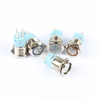 16 мм металл кнопочный переключатель кольцо кольцевая светодио дный 5-380 в 12 в 6 в собственн-замок выключатель без фиксации водонепроницаемый авто двигателя