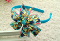"10pcs 3.5"" girl baby Despicable Me ribbon boutique Hair bows Headwear Xmas gift hair accessories headband N#7"
