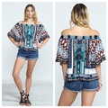 Summer Style 2016 Fashion women elegant embroidery Blue Red crop shirt vintage  casual Brand tops FT028