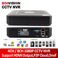 BOAVISION H.264 4Ch / 8Ch Mini NVR CCTV Network Digital Video Recorder 1080P Support ONVIF HDMI Output P2P Cloud View