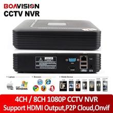 BOAVISION H.264 4Ch/8Ch Мини NVR ВИДЕОНАБЛЮДЕНИЯ Сети Цифровой Видеорегистратор 1080 P Поддержка ONVIF Выход HDMI P2P Облако посмотреть