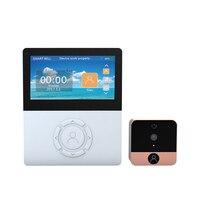 Безопасности 1.0MP Wi Fi Беспроводной Цифровой глазок двери 4.5 Экран дверь в квартиру Камера беспроводной дверной звонок ИК Видео Обсуждение