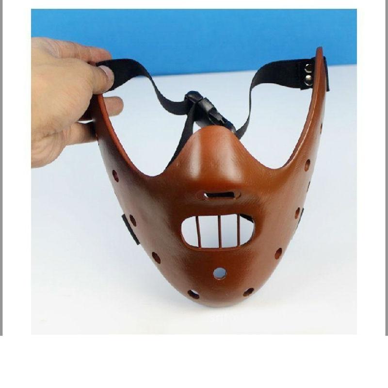 Filmfilm Tystnaden av lammen Hannibal Lecter Resin Masks Masquerade - Semester och fester - Foto 3