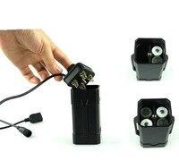 (2 pz/lotto) di Plastica Impermeabile Ricaricabile 8.4 V Batteria Cassa Del Supporto Della Batteria di colore Nero Con Custodia Per Armi
