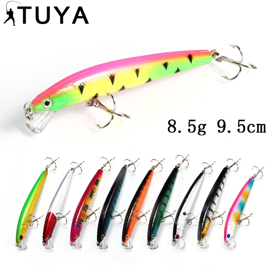 8.5g 9.5cm Jerk Bait Wobblers Minnow Fishing Lures Artificial Bait Trolling twitching JerkBait short Wobbler Culter bass