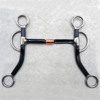 125mm Western Horse Bits Stainless Steel Copper Horse Riding Equestrain Racing Bit Horsing H Mouthpiece Snaffle A