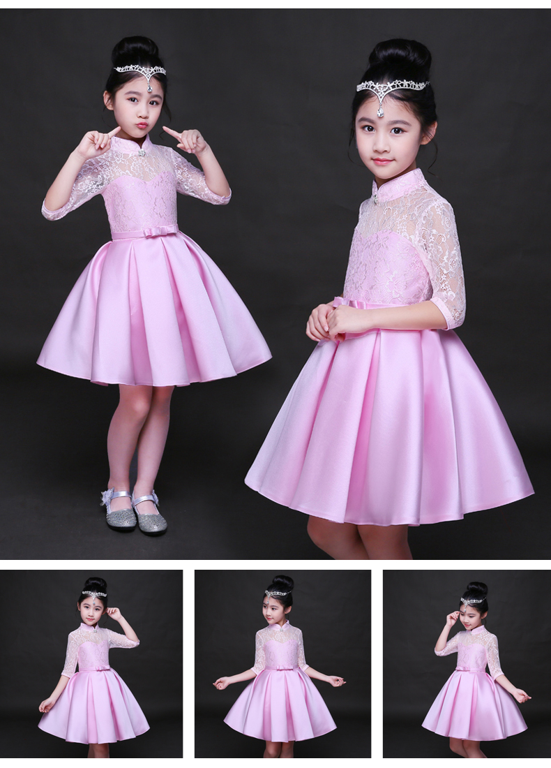 HTB1vqWZSFXXXXaGXXXXq6xXFXXXN - Baby Girl Kid Evening Party Dresses For Girl Wedding Princess Clothing 2017 New Solid Color Bow Moderator Dress Children Clothes