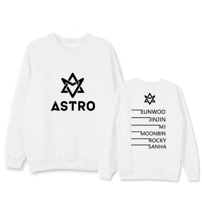 New kpop ASTRO The Same Korean Version Sweatershirt Loose Pullover Hoodie Men and Women Hoody