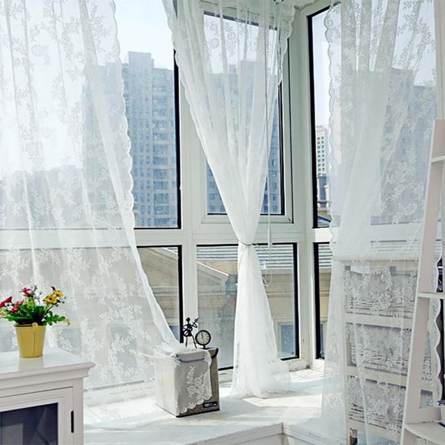 Home Decor Window Curtain Fashion Sheer Tulle Treatment Voile Drape Valance 1 Panel Fabric
