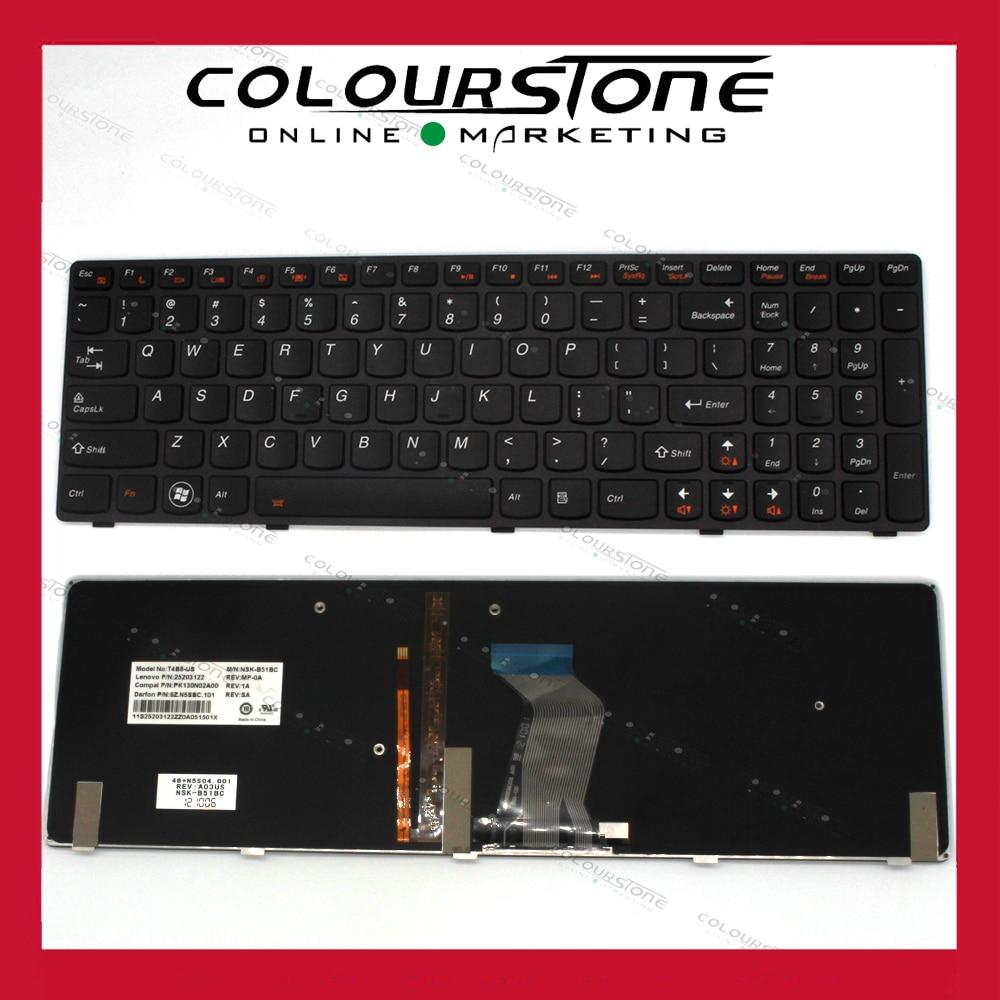 New US Laptop Keyboard for LENOVO Y580 Backlit Laptop Keyboard new original laptop keyboard for lenovo thinkpad t460p t460s us keyboard english with backlit backlight 00ur395 00ur355