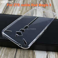 For ZTE nubia Red Magic 3 6.65 Slim Crystal Clear Transparent Soft TPU Back Case Protection Skin Camera Protect Cover