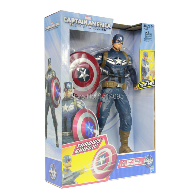 10 25CM Captain America The Winter Soldier Shield Storm Captain America PVC Action Figure Collectible Model Toy CA100 marvel captain america civil war scarlet witch black panther winter soldier falcon pvc action figure collectible model toy