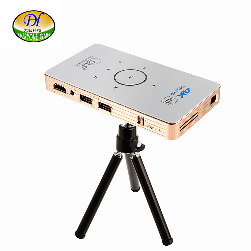Everyone Gain A18 Projetor Celular Full HD 3D Mini Video Proyector Android Projector DLP  Pico Battery Projecteur Game Portatil mini led projector bl 18 proyector portable pico projektor 500lumen full hd projectors av vga sd usb hdmi video beamer projetor