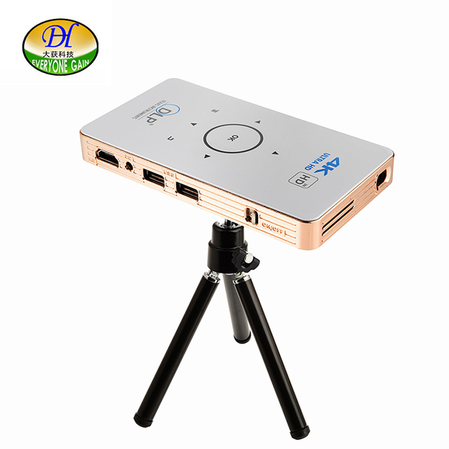 Best Offers Everyone Gain A18 Projetor Celular Full HD 3D Mini Video Proyector Android Projector DLP  Pico Battery Projecteur Game Portatil