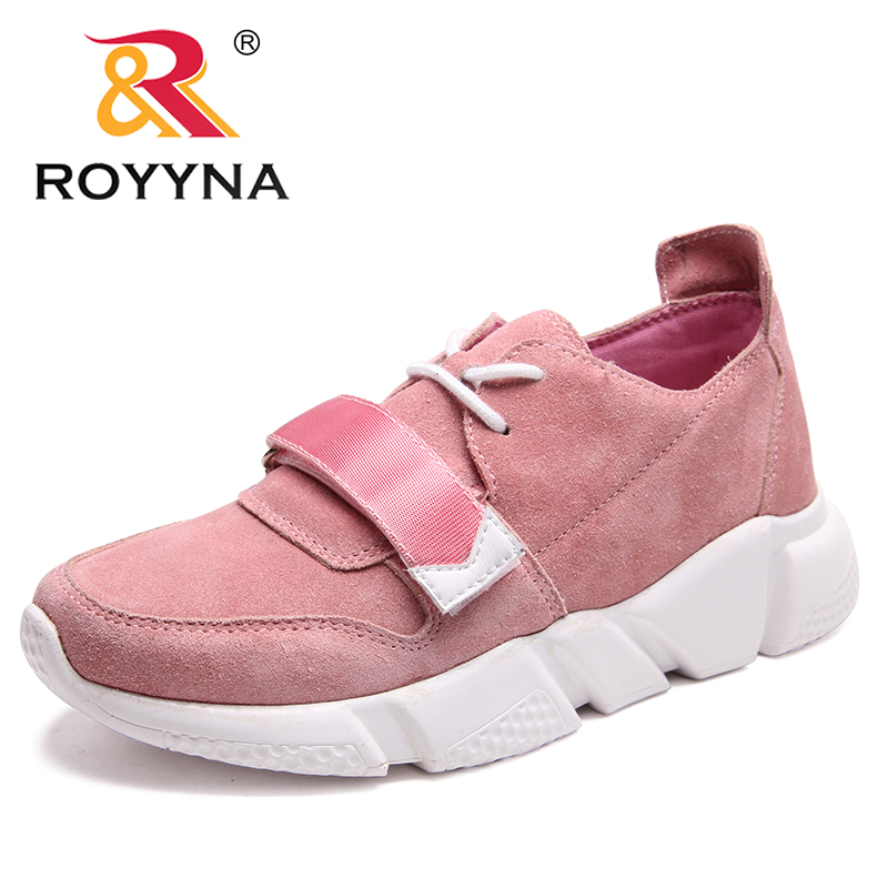 ROYYNA New Arrival Classics Style Women Flats Round Toe Women Shoes Suede Women Casual Shoes Outdoor Fashion Sneakers
