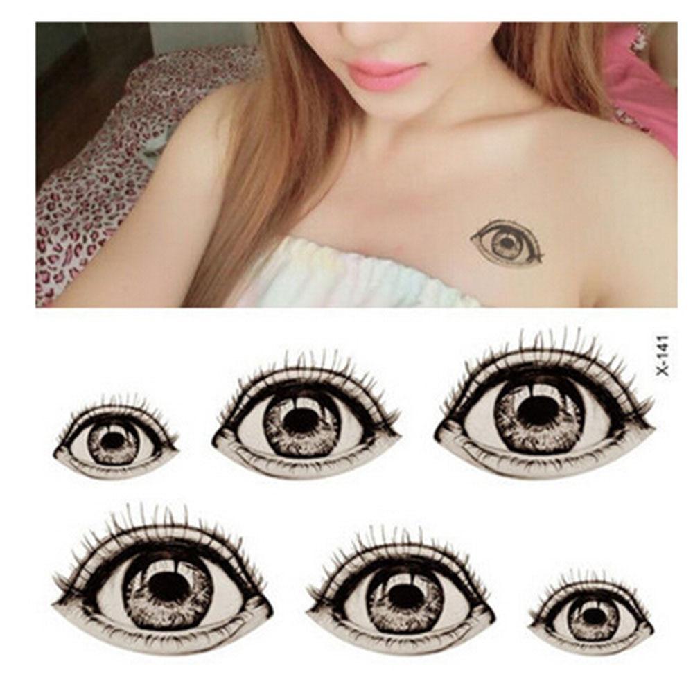 1pcs Waterproof Tattoo Sticker Halloween Terror Big font b Eyes b font Pattern Temporary Tattoos Body