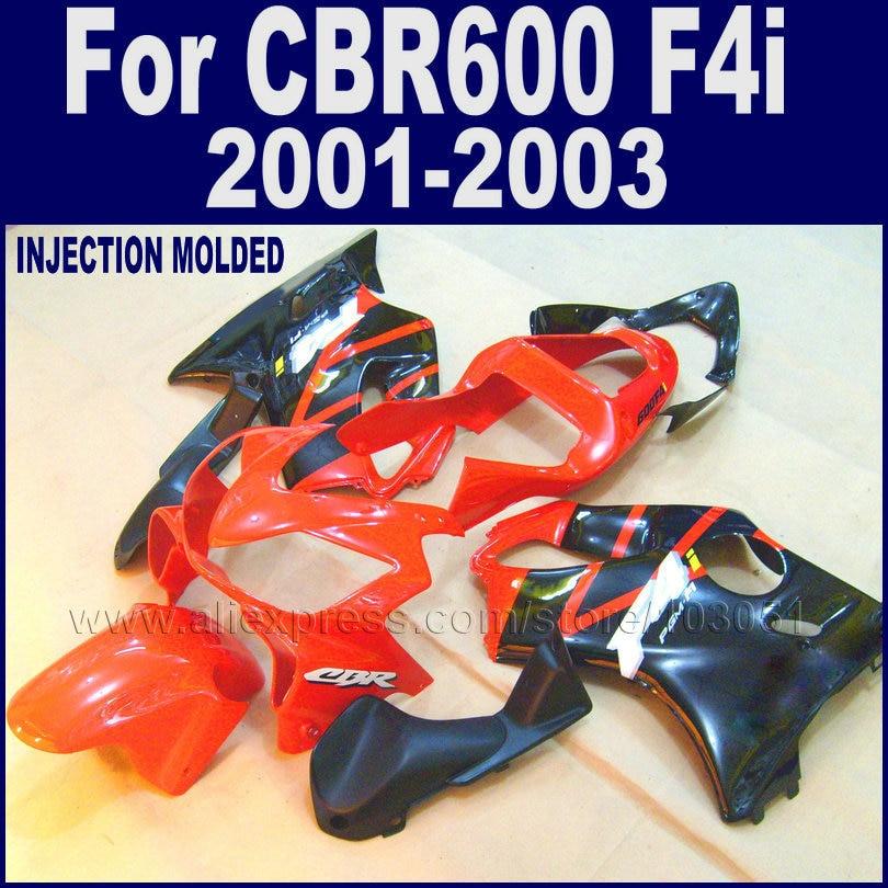 Custom Road fairings kit for Honda CBR 600 F4i fairing kits 2001 2002 2003 CBR 600 F4i 01 02 03 red black aftermarket body parts injection molded fairing kit for honda cbr 600 f4i fairings 2001 2002 2003 blue movistar bodywork set cbr600 01 02 03 td25