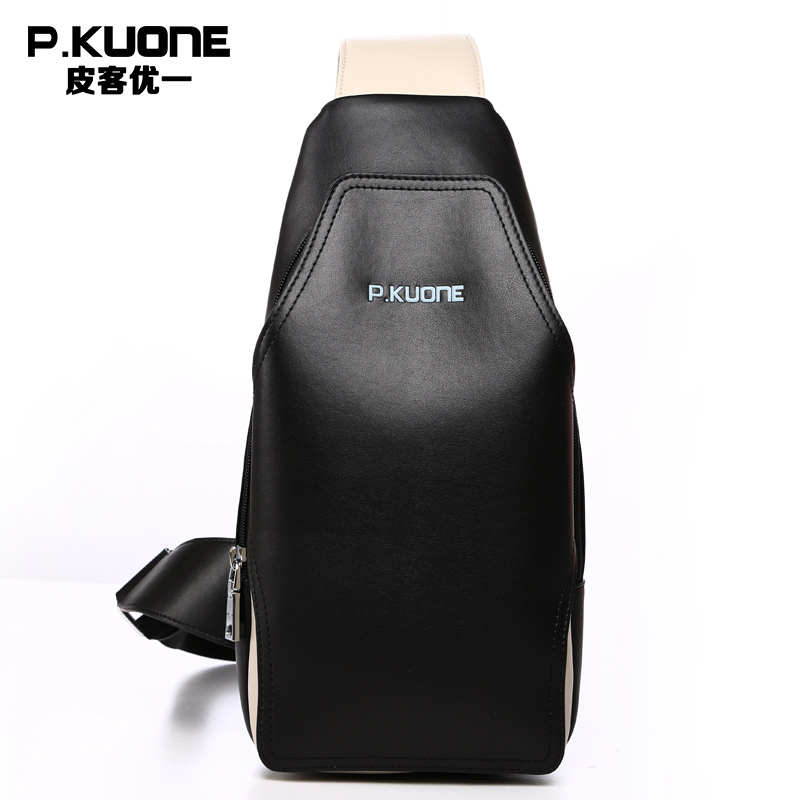 ФОТО Men's Casual Shoulder Bags Microfiber Synthetic Leather Men's Travel Bags Chest Pack Vintage Messenger Bag P750532 Black