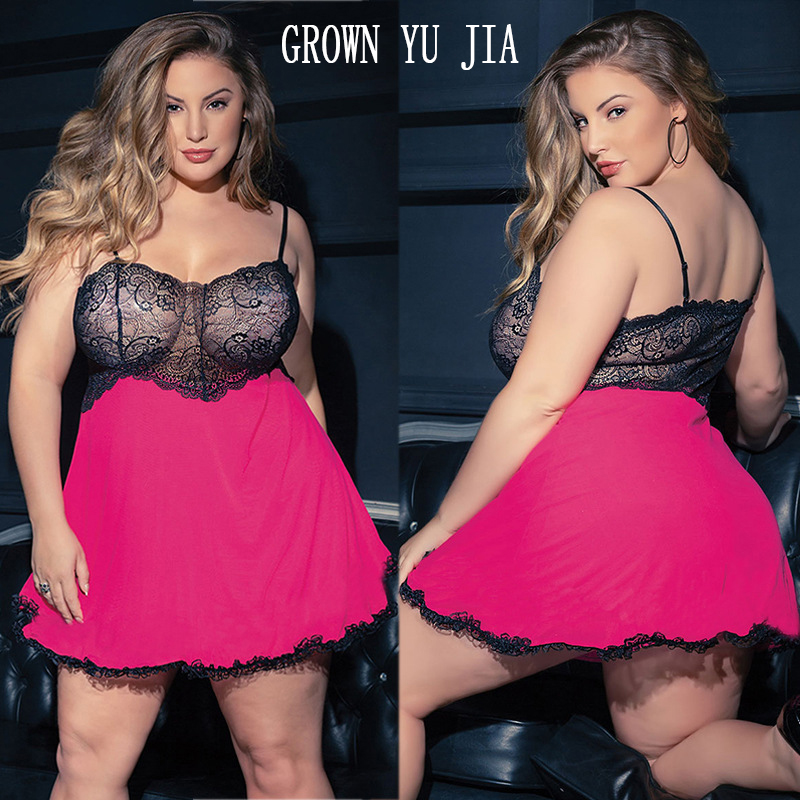 Have An Inquiring Mind Erotic Lingerie Night Gown Porno Lace Sling Dress Sexy Camisones Plus Size Set Woman Sex Night Sleepwear Hot Babydoll 4xl 5xl Easy To Repair Women's Exotic Apparel