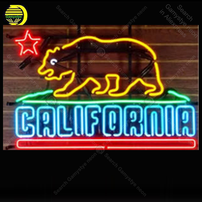 NEON SIGN For California Bear letrero custom luces neon light lampara neon signs for sale vintage neon light for wall custom|Neon Bulbs & Tubes| |  - title=