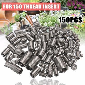 150 sztuk zestaw do naprawy i umieszczania gwintów M3 M4 M5 M6 M8 zestaw narzędzi do naprawy sprzętu Helicoil Mayitr tanie i dobre opinie Obróbka metali Drzewa wstaw Thread Insert
