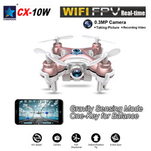 Drone with Camera Cheerson CX 10W Mini 6 Axis Gyro RC Quadcopter Headless Mode Remote Control