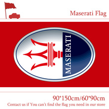 Free shipping 90*150cm 60*90cm Polyster Maserati Red Car Flag Out Door Use For Racing Banner Digital Print