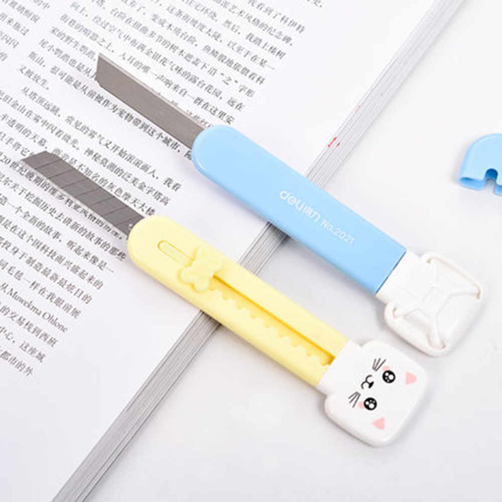 2 PCS Cute Little Knife Capable Student Mini Portable Utility Knife Envelope Letter Opener Paper Cutter 2021
