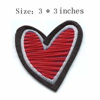 Beautiful Heart Embroidery Patch 3 0 Wide Free Shipping Military Badge Stripe Patch Custom