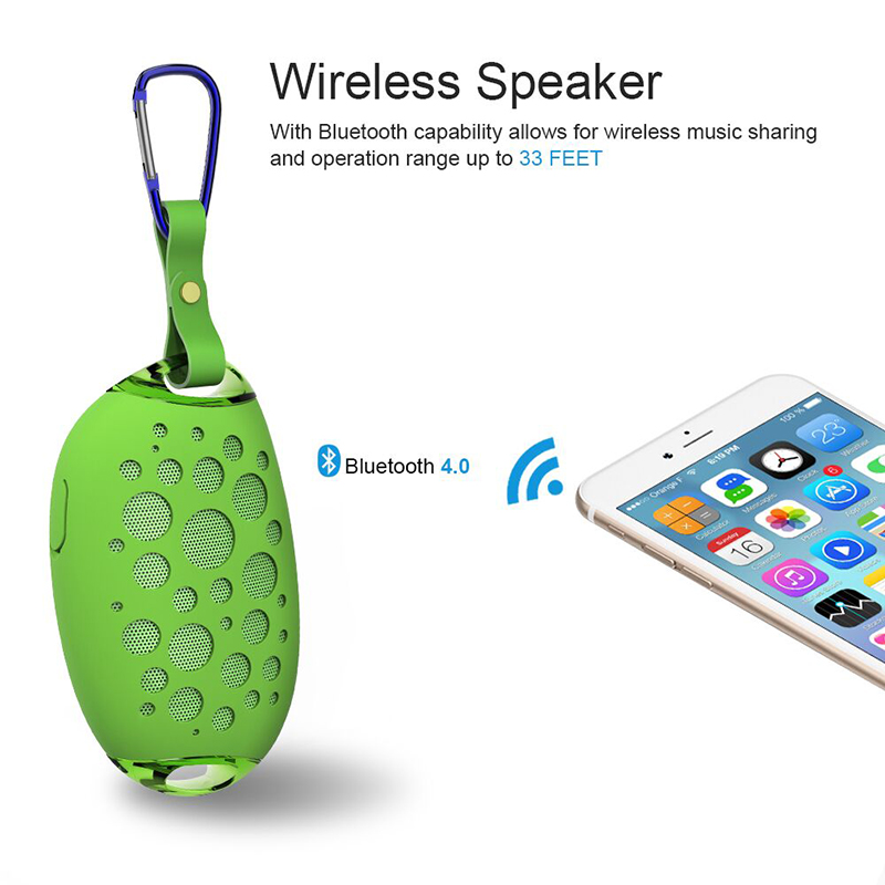 Mini Mango Wireless Waterproof Bluetooth Speaker For Outdoors With Mic Hook And Handsfree Call Support 4
