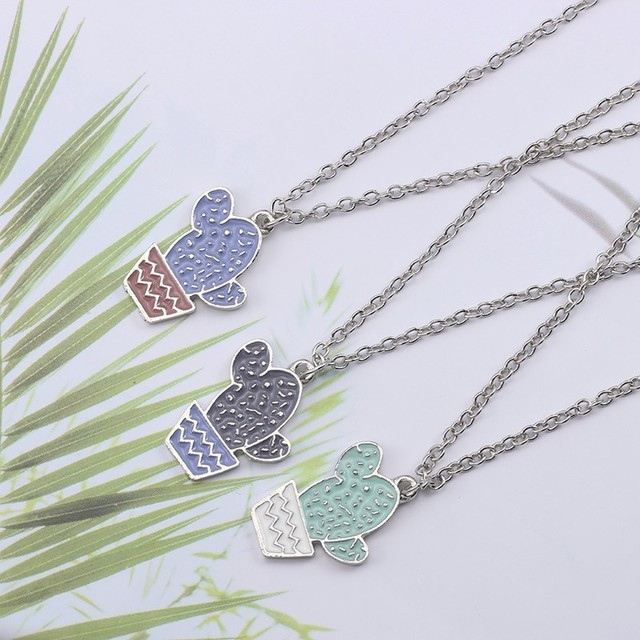 Potted Cactus Necklace