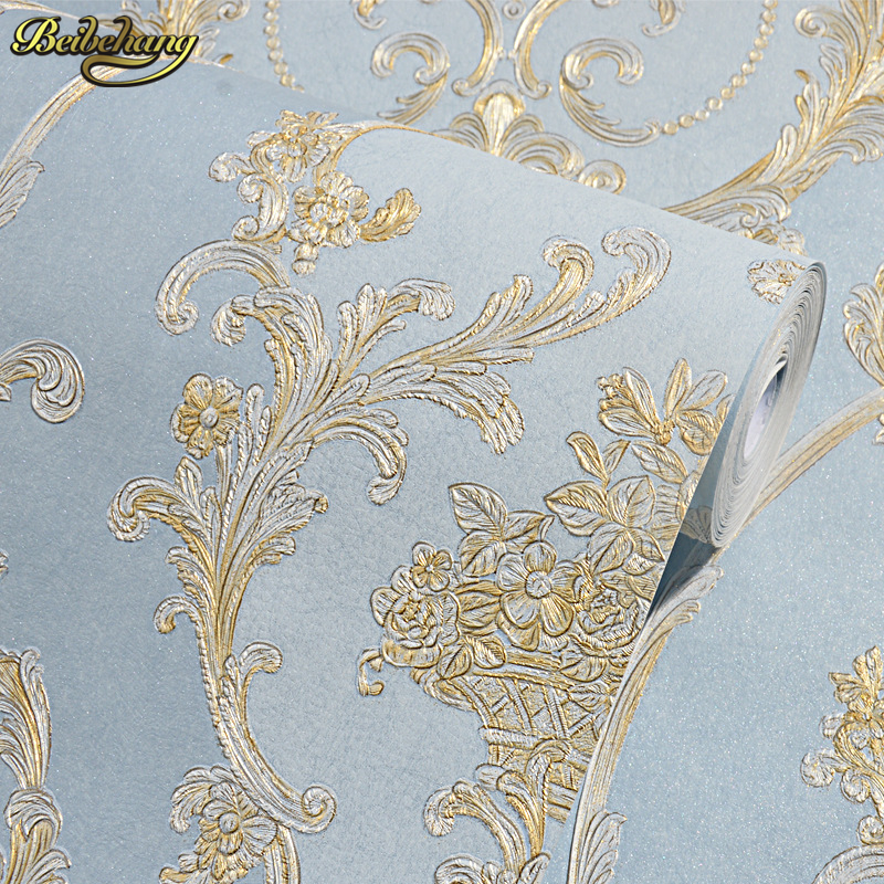 beibehang Non-woven Textured feature Vintage damask Wallpaper living room coverings papel de parede 3d wall paper Roll bedroom beibehang wall coverings mural wall paper roll bedroom sofa off white textured feature europe vintage glitter damask wallpaper