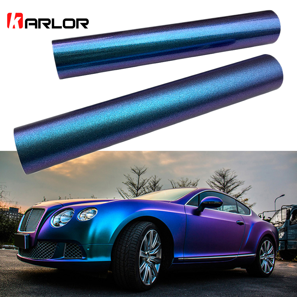 10100cm car blue to purple pearl chameleon vinyl wrap film chameleon car stickers automobiles motorcycle car styling decaration