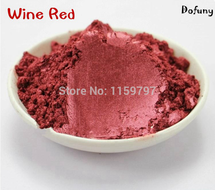 Dofuny Wine red pearl powder mica powder pearlescent pigment pearl powder for make up&soap&Automobile paint