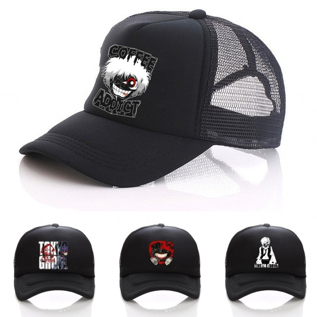d797383ef7a Japan anime Tokyo Ghoul hat Kaneki Ken Baseball Caps Casual Adjustable Mesh  Hats Hatsune Miku Clothing   Accessories Cap