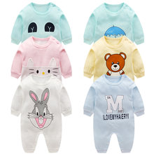 Newborn baby clothes 100% Cotton Long Sleeve Spring Autumn Baby Rompers Soft Infant Clothing toddler baby boy girl jumpsuits(China)