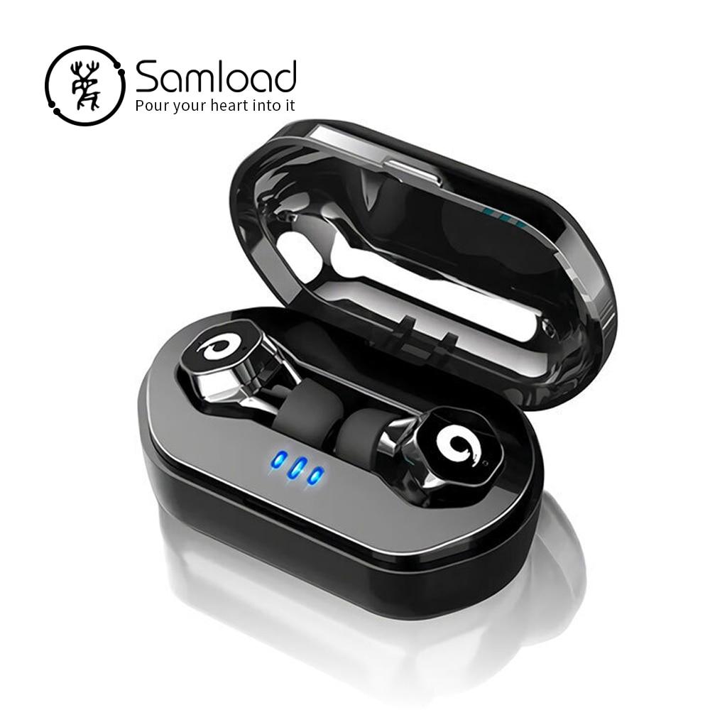 Samload biznes Bluetooth 5.0 słuchawki IPX7 sterowanie dotykowe bezprzewodowe słuchawki F8 TWS zestaw słuchawkowy do iPhone'a 7 8 X Xr Siri Samsung w Słuchawki douszne i nauszne Bluetooth od Elektronika użytkowa na AliExpress - 11.11_Double 11Singles' Day 1