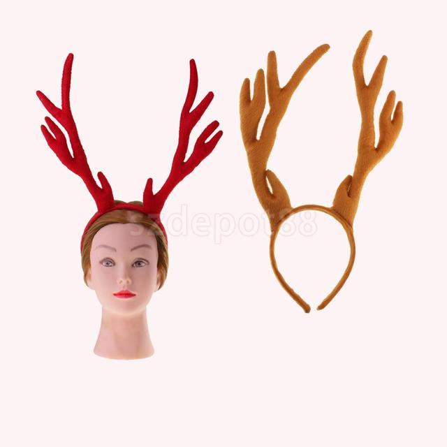 halloween deer horns headband fawn reindeer headgear antlers hair accessory christams and easter party headdress