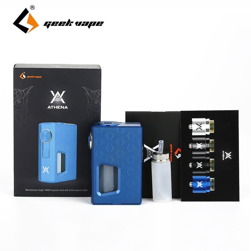 100% Original GeekVape Athena mecánica Squonk Box MOD 6,5 ml botella de silicona Auto-ajuste 510 pin E cigs VAE Mod sin batería