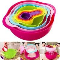 8pcs Multicolor Plastic Kitchenware Set Creative Kitchen Bowl Set Useful Kitchen Tools For Gift