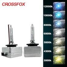 Crossfox par de 12v 35w xenon d1s hid, 3000k 4300k 5000k 6000k 8000k lâmpada xenon para farol 10000k 12000k, lâmpada hid