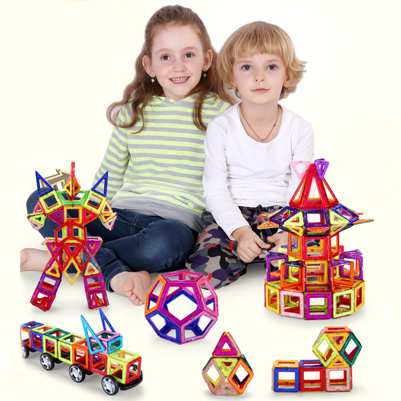 196 pcs Magnetic Building Blocks Models Building Toy kits Magnetic Designer Brick Technics Educational Toys For