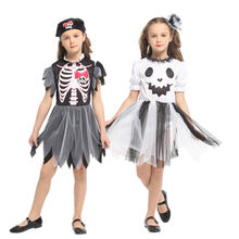 halloween costume spooky little girl spooky pirate cosplay costume kids party dress skeleton costumechina