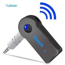 Yubeter receptor bluetooth 3.5mm, plugue de áudio aux, transmissor sem fio, adaptador de música para mp3, alto falante para carro, chamadas mãos livres