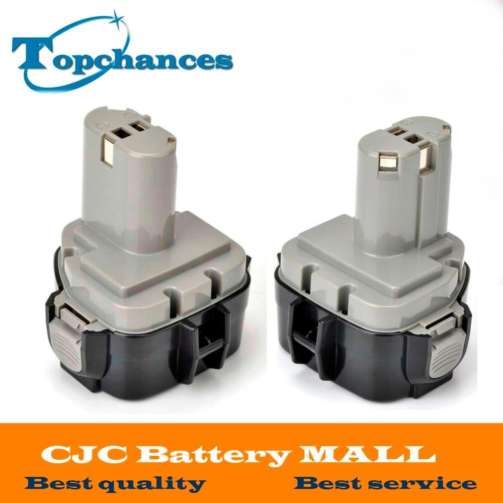 High Quality 2x 3000mAh 12V Battery for MAKITA 1234 1233 6223D 6980FD 12 Volt Cordless Drill аккумулятор d robiton d hr20 3000 mah rtu3000mhd sr2 14222 2 штуки