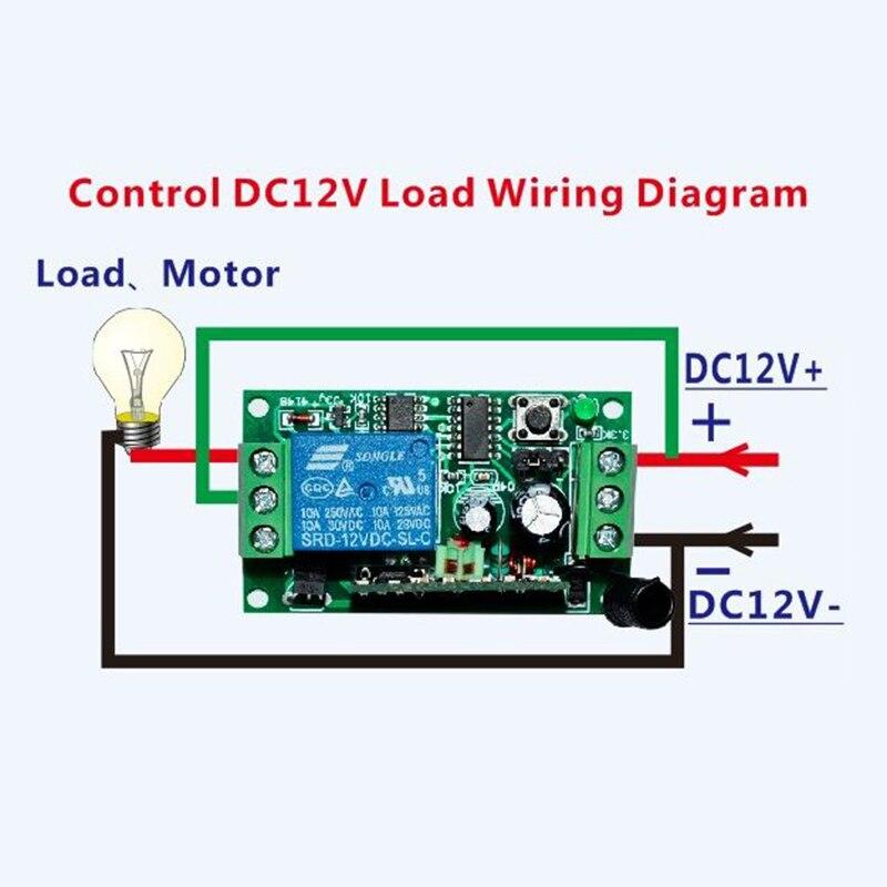 DC12V 1CH 10A Беспроводной Выключатель питания системы teleswitch 18 приемник и 2 передатчика пульт дистанционного управления 10A выходное состояние регулируется - 6